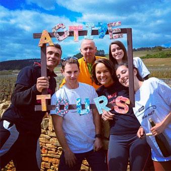 L'équipe Active Tours / Bourgogne Evasion