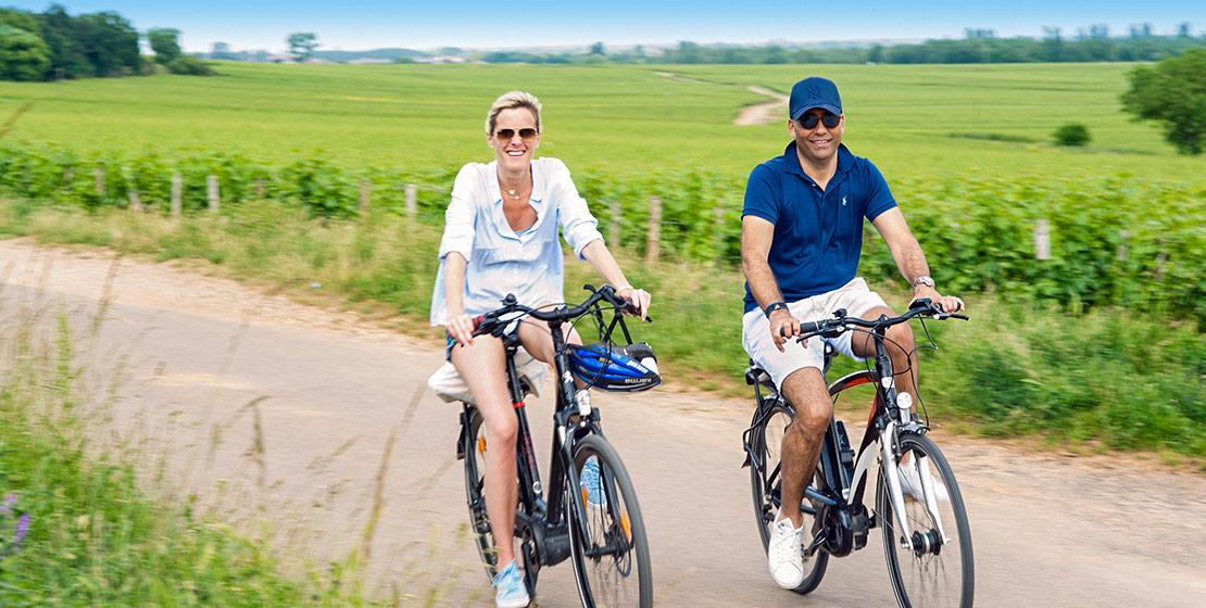 Ballade vélo à Beaune en vélo électrique